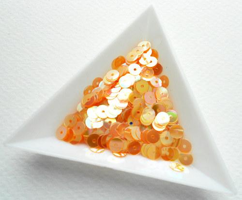 Flitry oranžové AB 5 mm 3 g