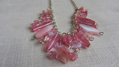 Růžové potěšení - náhrdelník