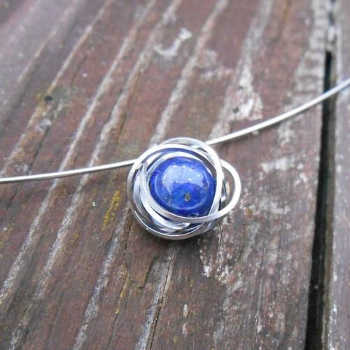 modrá planeta - náhrdelník