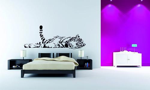 Samolepka na zeď - Ležící tygr