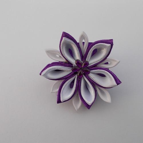 Fialovobílý květ