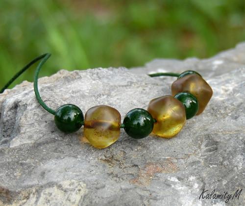 Obilí - náhrdelník s křemenem