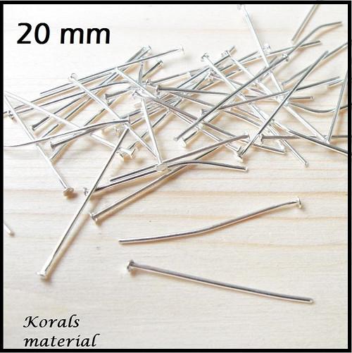 2211/A Ketlovací nýty 20 mm STŘÍBRNÉ    * 50ks