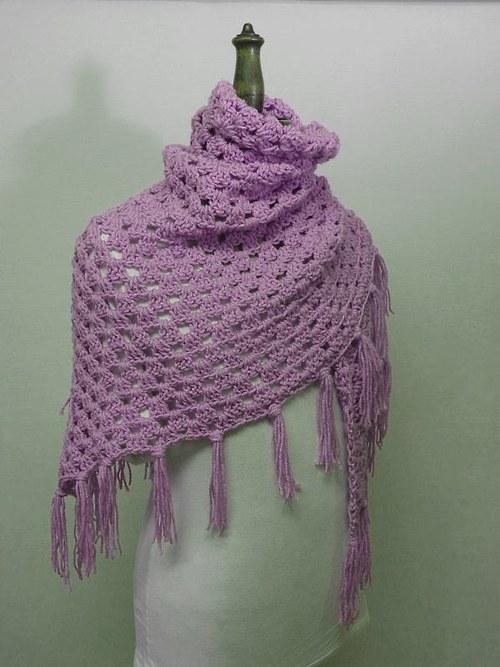 Pléd nebo šátek?  - fialkový