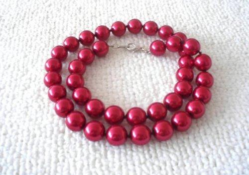 Náhrdelník voskový červený