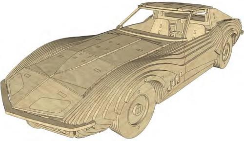 Modely aut | Chevrolet Corvette Stingray 1969