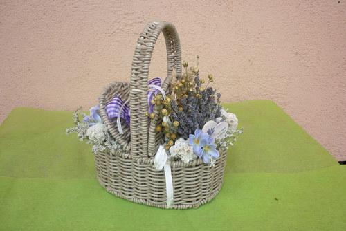 košík  z Provence s  levandulí
