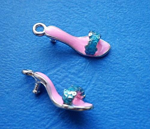Světle růžový pantoflíček - 1ks