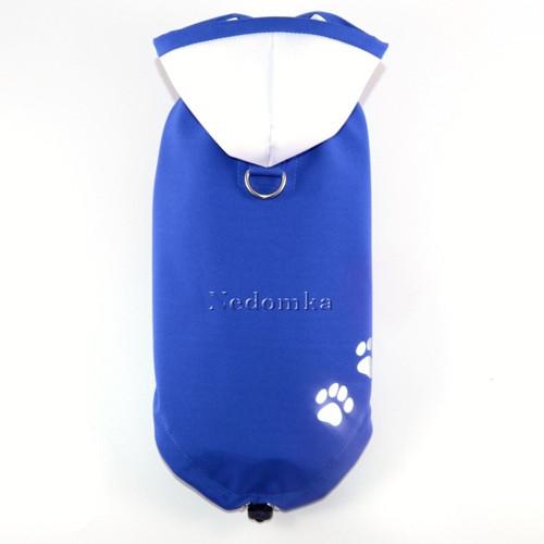 Letní softshellová pláštěnka-bunda Modrá pro pejsk