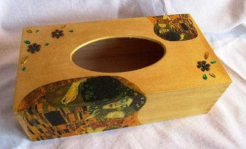 Box na kapesníčky - Klimt