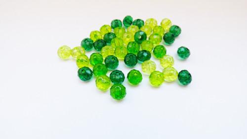 zelené rondelky mix -44 ks