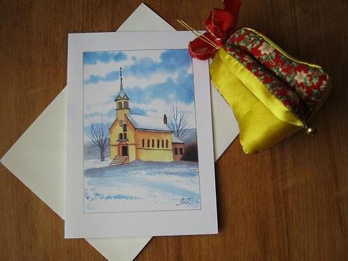 Zimní přání - Kostelík