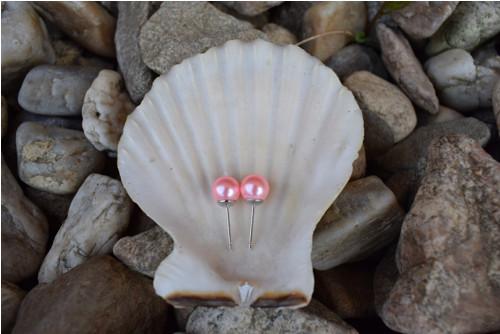 Elegantní náušnice z růžových perel