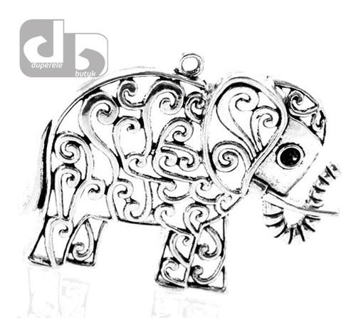 Velký stříbrný přívěšek slona 6,3 cm