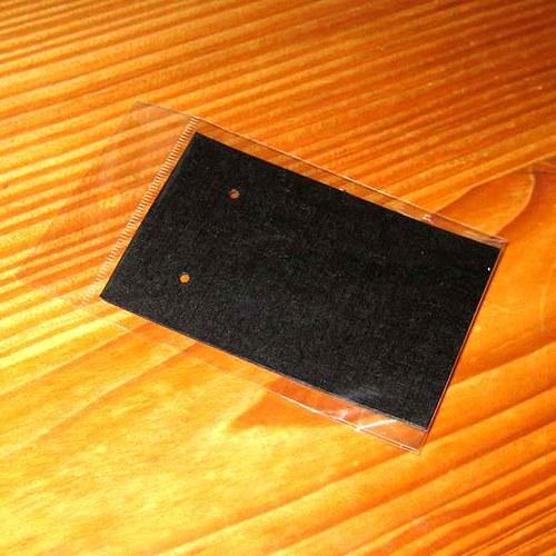 Karta na Náušnice 5x8cm se Sáčkem - 10ks