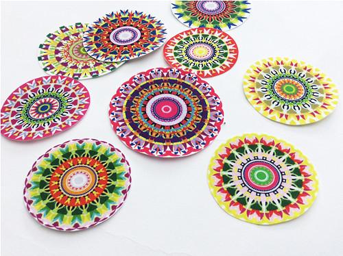 Mandala I. - 9ks - nažehlovací textilní obrázky