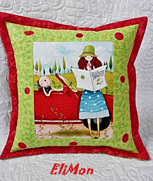 Quilt polštář  Gorjuss 1- Santoro letní kolekce