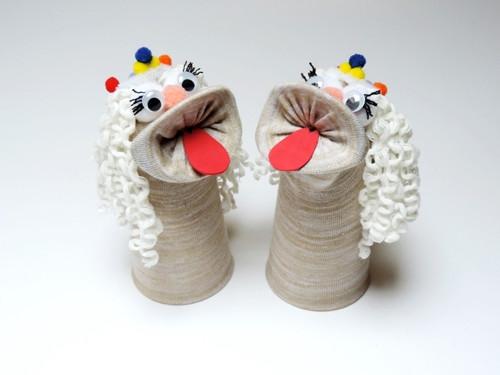 Maňásek ponožkáček bambulínka. č.1036