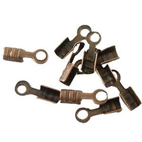 Koncovky mini staroměď 2x2x6,5mm, 100ks