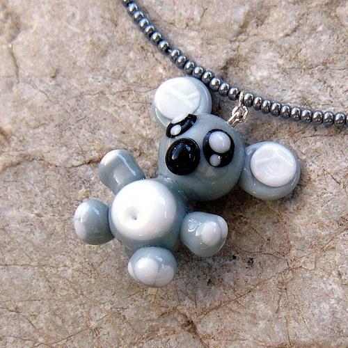 Náhrdelník - medvěd KOALA - vinutá perle