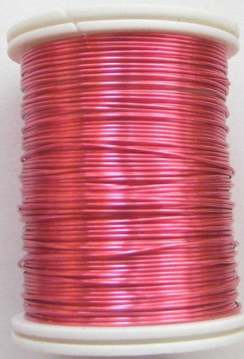 Měděný lakovaný drát 0,6 mm růžový