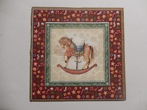 Ubrousek na decoupage - houpací kůň