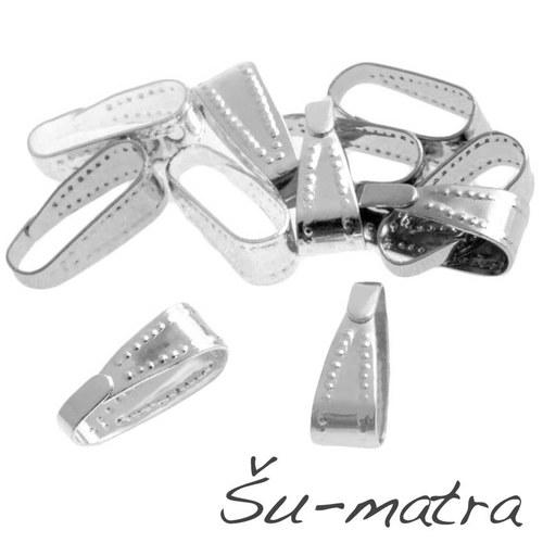 Šlupna stříbrná, 4x11 mm (10 ks)