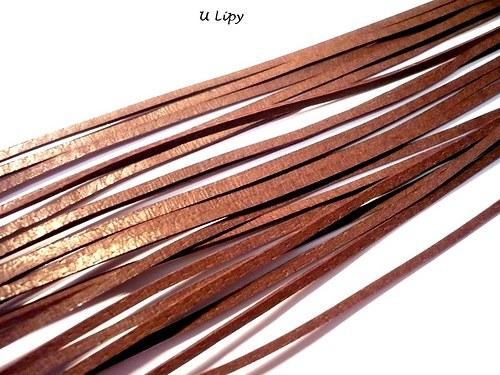 Kožený řemínek 2 mm, 110 cm - hnědý