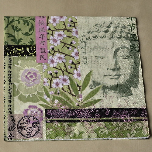 Ubrousek - Buddha v zeleném