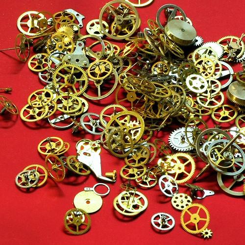Steampunk sada součástek, 10g(cca 150-300 ks)