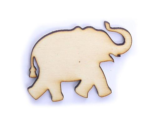 Slon ze dřeva (obrys) - šíře 5 cm