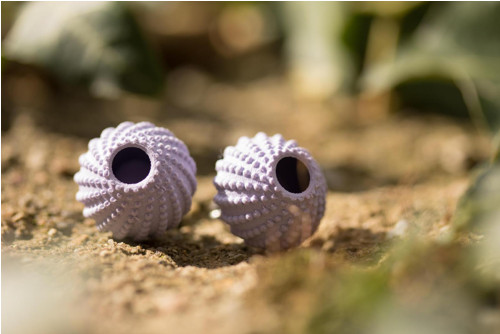 Náušnice ježovka lilac