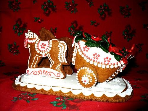 koňské spřežení-vánoční hvězda-