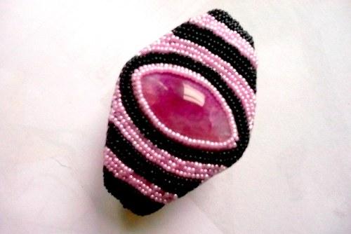 Pink achate - náramek