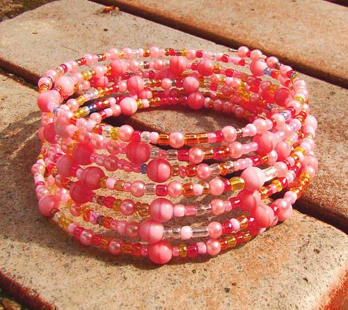náramek růžové jaro