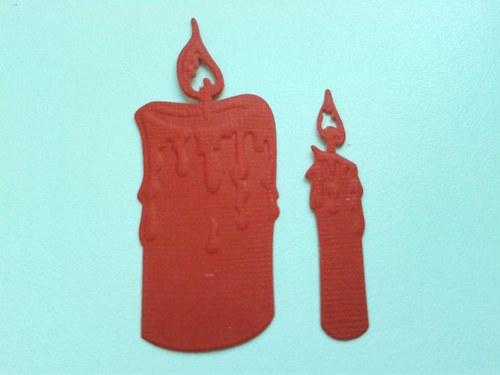 Svíčky -  červené
