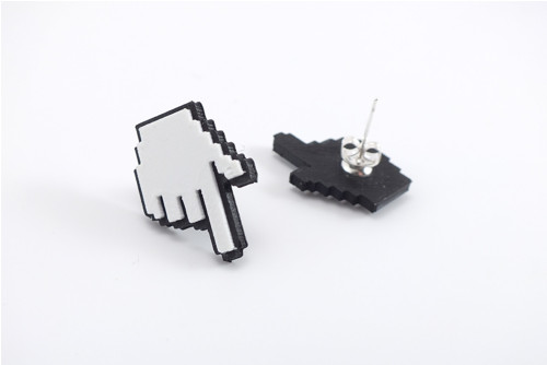 Náušnice cursor hand
