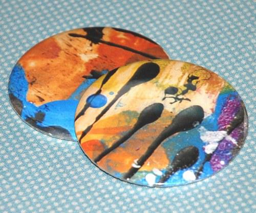 Zrcátko malovaní (75 mm) s pytlíčkem