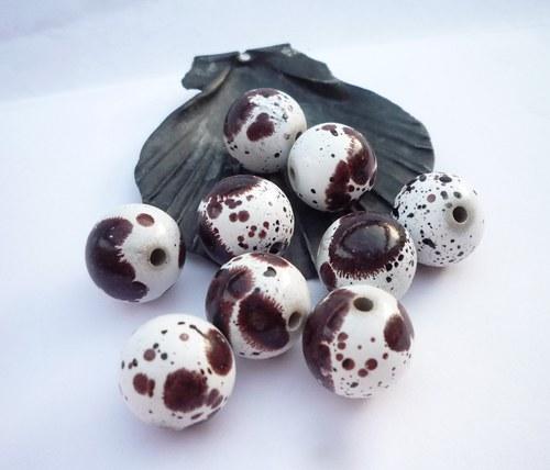 akrylové korálky  Dalmatin10 ks 12 mm