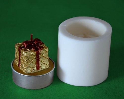 Silikon. forma na čaj. svíčku - Vánoční dáreček