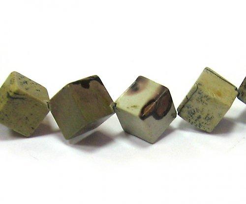 Jaspis - velké kostky - 10 mm