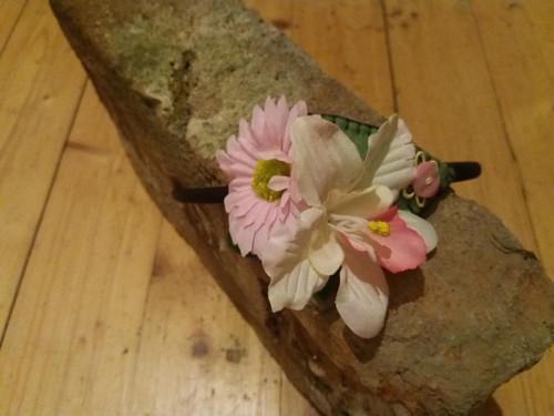 Květinová čelenka-růžová