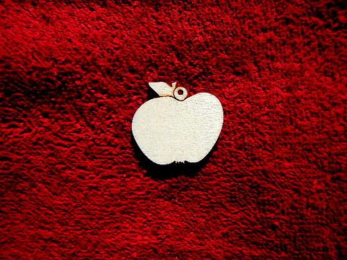 2D výřez ván.ozdoba jablíčko-v.3,3x3,7cm