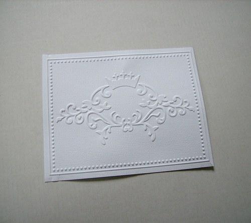Embossovaná karta s korunkou - Výseky z BS 14x11cm