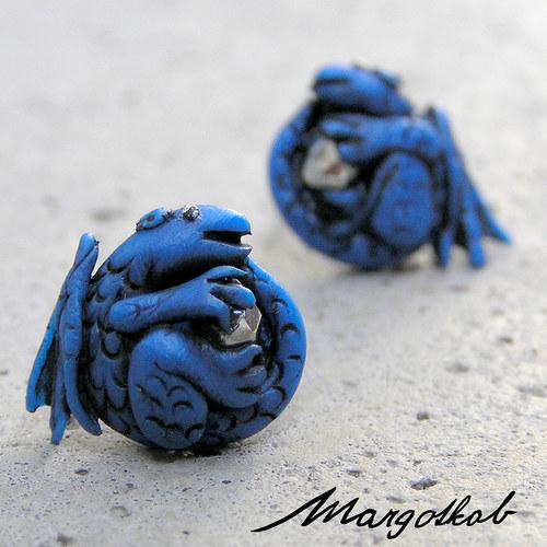 Pohádky: Dráčci náušnice modré