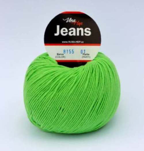 Jeans jarní zelená 8155