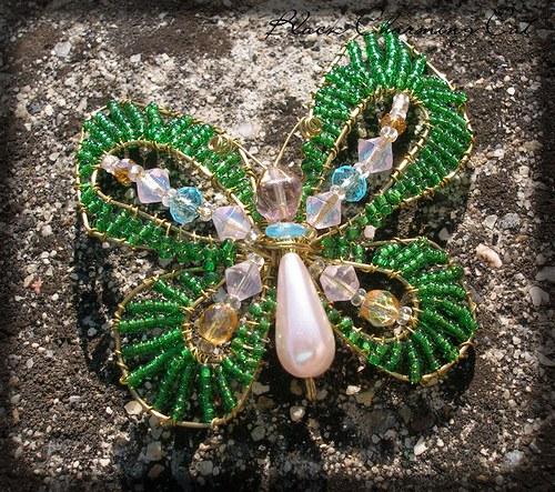 SLEVA - Zelený motýl - brož