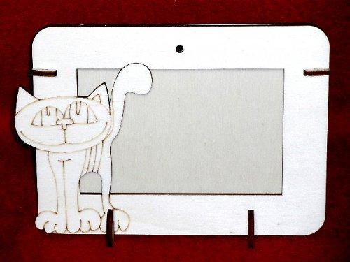 2v1 rámeček na šířku fota 10x15cm - KOČKA STOJ.