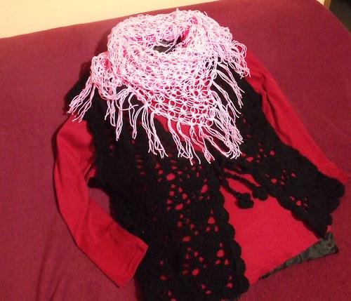Světlerůžový šátek lehký jak peříčko