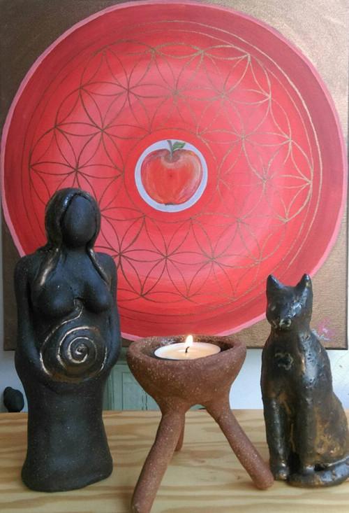 Šamanka  - oltárová keramická soška